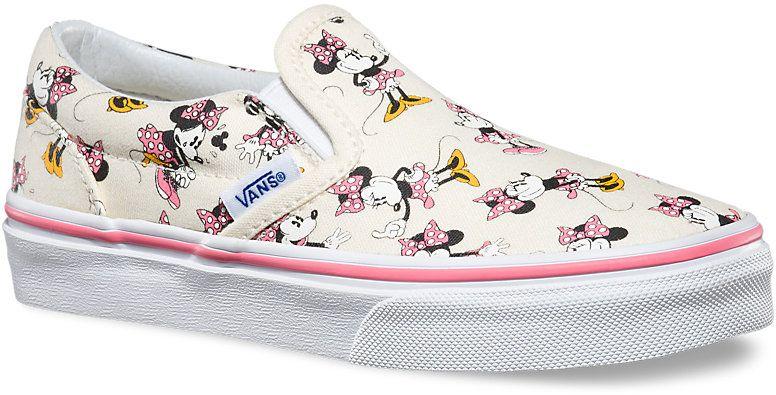 detské topánky vans CLASSIC G SLIP-ON (Disney) Minnie Mouse Classic White 780224042c