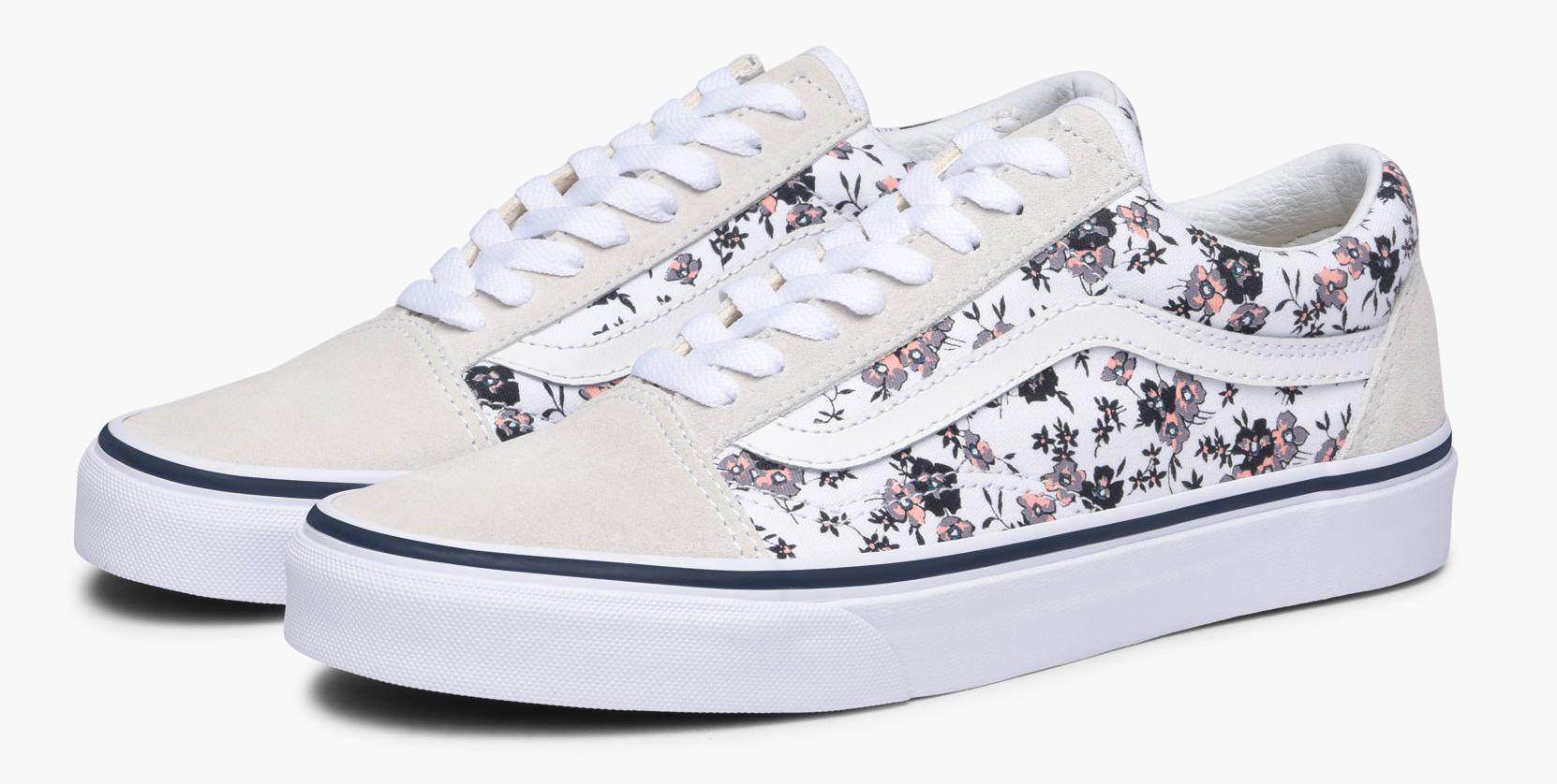 dámske topánky vans OLD SKOOL (DITSY BLOOM) True White dde0f4618a