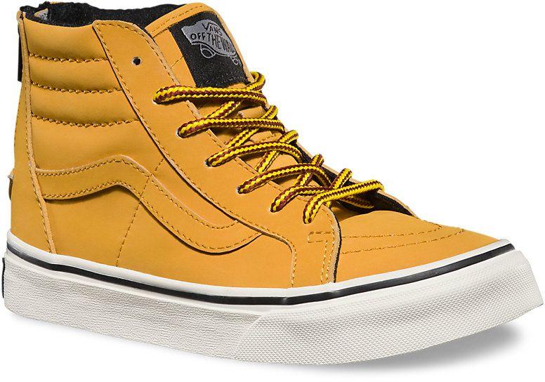 detské zimné topánky vans SK8-HI ZIP (MTE) Honey Leather 30521f673fa