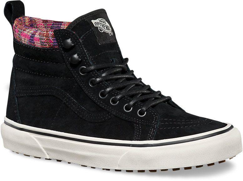 dámske zimné topánky vans SK8-HI MTE (MTE) Black Woven Chevron d6b3f213318