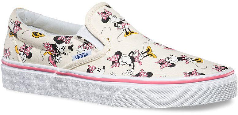 0cca6cb46e6d5 dámske topánky vans CLASSIC SLIP-ON (Disney) Minnie Mouse/Classic White
