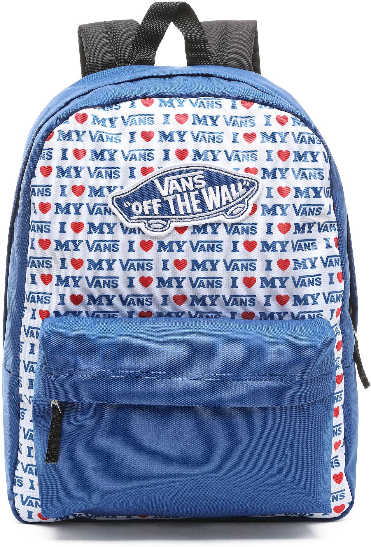 batoh VANS REALM BACKPACK True Blue/Vans Love